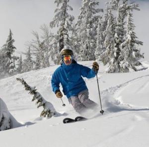 John Furgurson branding expert skiing at Mt. Bachelor