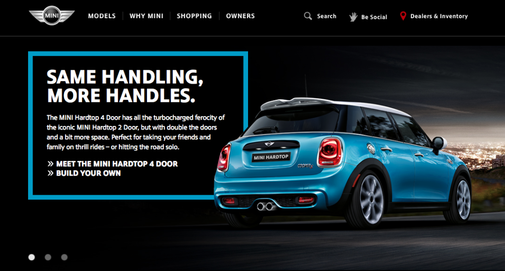 branded websites that convert well - Mini Cooper