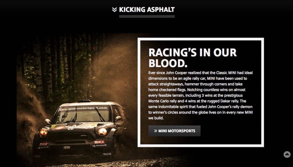 branded websites for mini cooper