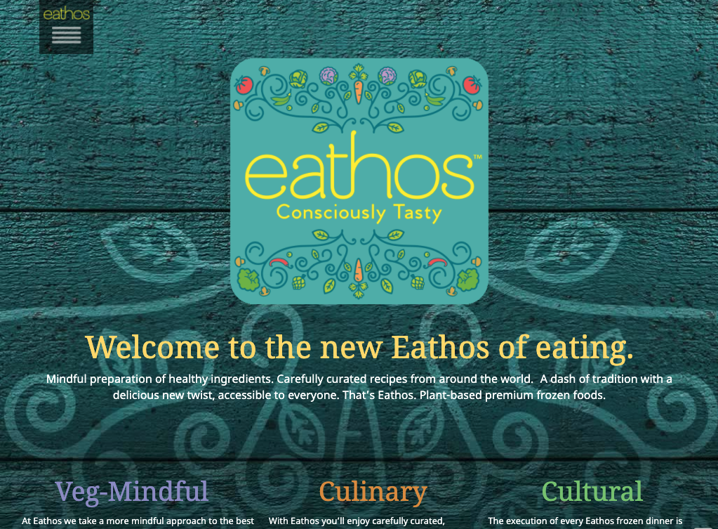 Website design in the natural food industry