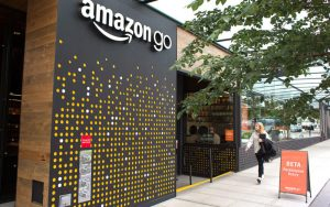 bricks and clicks retail marketing Amazon Go store