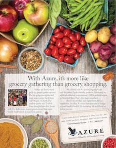 BNBranding bend branding firm print ad for Azure Standard