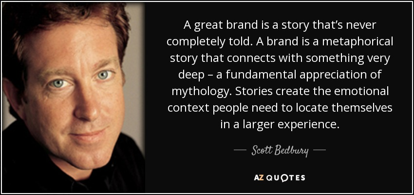 oregon advertising agency BNBranding shares Scott Bedbury quote